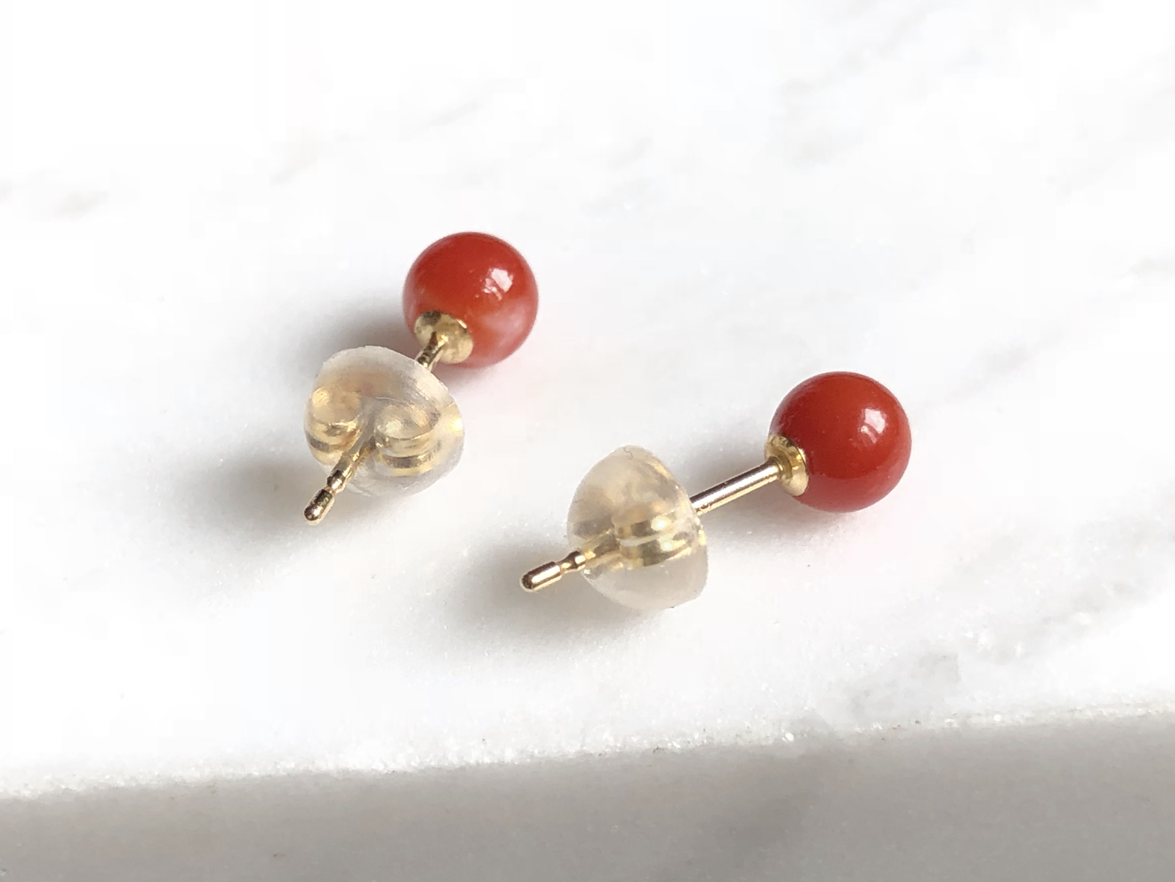 Lexie Red Coral Earrings