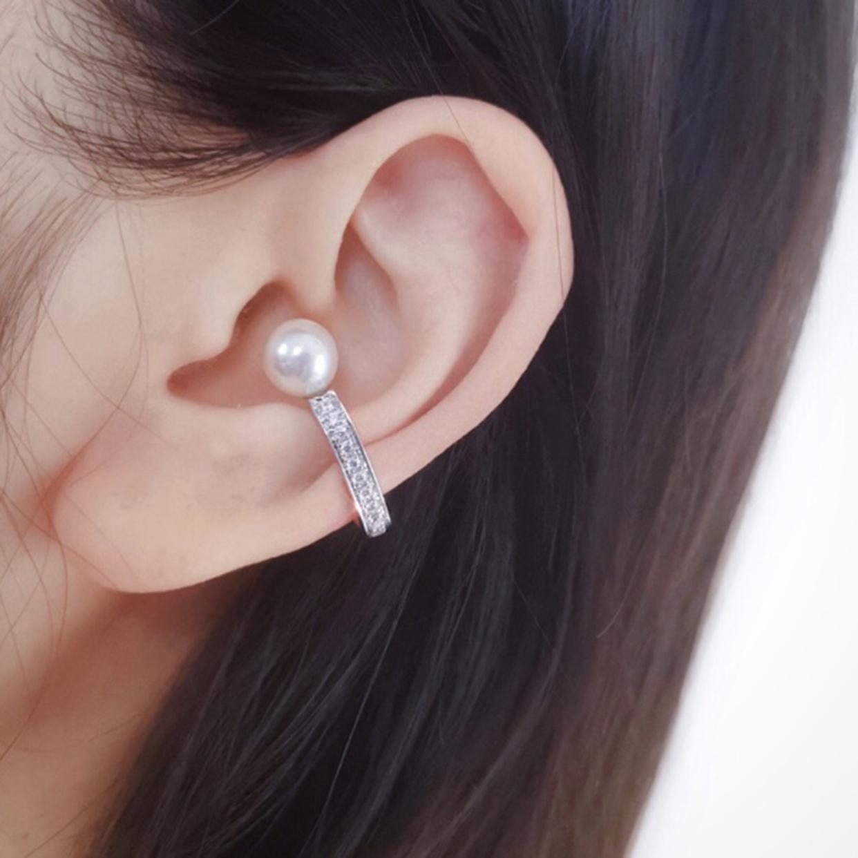 Statement pearl ear cuff-2
