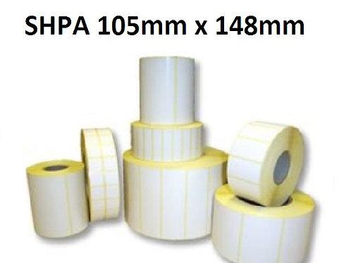 SHPA - Adhesive paper barcode labels 105mm x 148mm (5.000pcs)