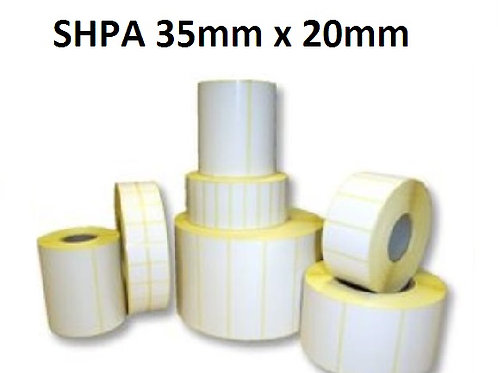 SHPA - Adhesive paper barcode labels 35mm x 20mm (5.000pcs)