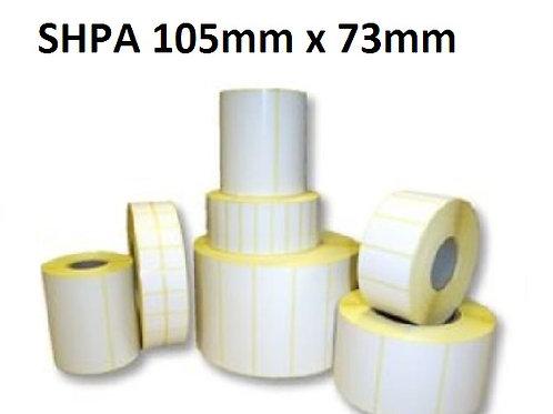 SHPA - Adhesive paper barcode labels 105mm x 73mm (5.000pcs)