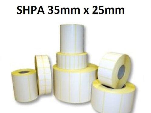 SHPA - Adhesive paper barcode labels 35mm x 25mm (5.000pcs)