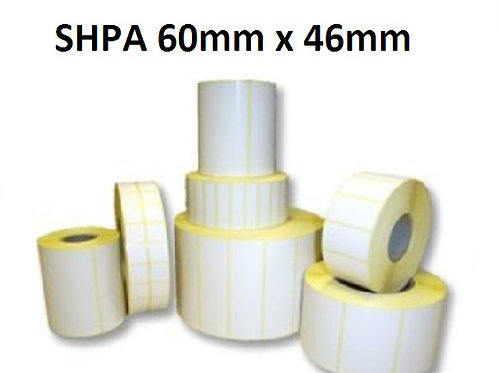 SHPA - Adhesive paper barcode labels 60mm x 46mm (5.000pcs)