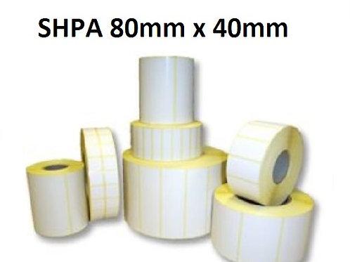 SHPA - Adhesive paper barcode labels 80mm x 40mm (5.000pcs)