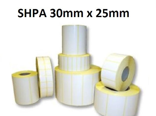 SHPA - Adhesive paper barcode labels 30mm x 25mm (5.000pcs)