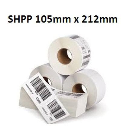 SHPP - Adhesive plastic barcode labels 105mm x 212mm (5.000pcs)
