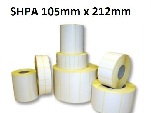 SHPA - Adhesive paper barcode labels 105mm x 212mm (5.000pcs)