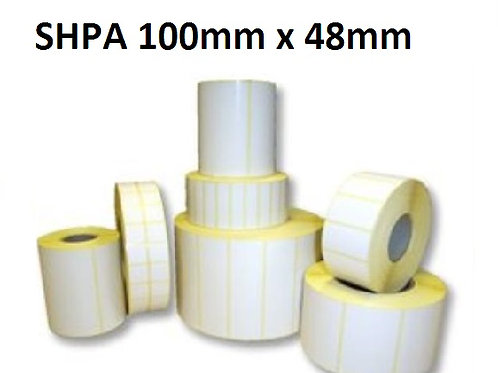 SHPA - Adhesive paper barcode labels 100mm x 48mm (5.000pcs)