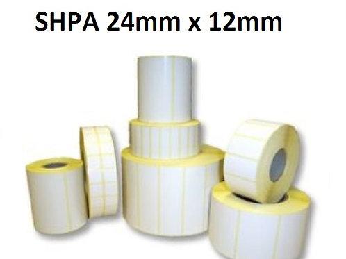 SHPA - Adhesive paper barcode labels 24mm x 12mm (5.000pcs)