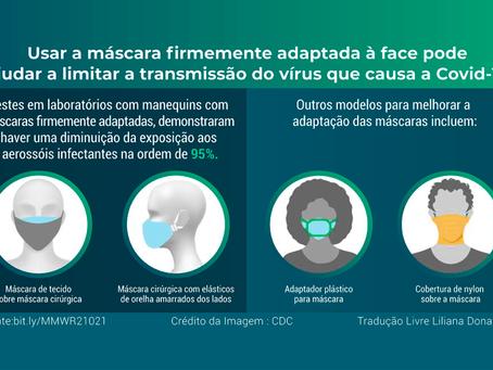 Por que usar duas máscaras para prevenção da Covid-19? Nova recomendação do CDC