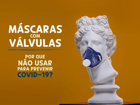 Máscaras com Válvulas – Por que não usar para previnir COVID-19?