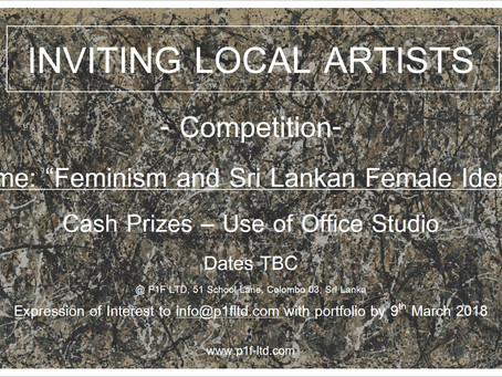 Feminism and Sri Lankan Female Identity - Colombo Art Competition at P1F