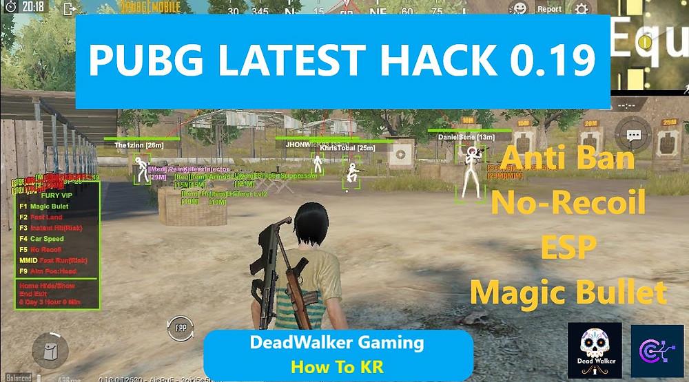 Pubg Mobile 0.19 Vip Hack For Gameloop - Free Magic Bullet, Car Speed, Fast Landing, Instant Hit - How To KR - howtokr - deadwalker gaming