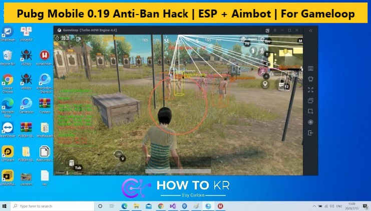 Pubg Mobile 0.19 Anti-Ban Hack | ESP + Aimbot | For Gameloop - How To KR - howtokr- deadwalker gaming