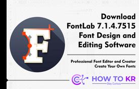 FontLab 7.1 - Font Design Software
