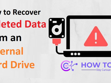 How to Recover Deleted Data from an External Hard Drive | How To KR