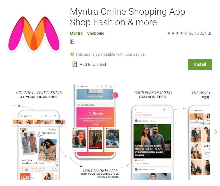 Myntra (Alternative for ROMWE, ClubFactory, and SHEIN) - 11 Best Chinese Apps Alternatives in 2020 - How To KR - howtokr