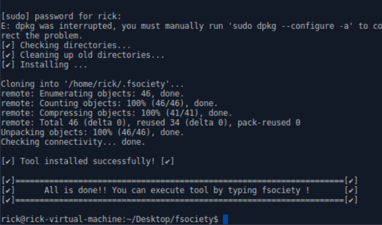 FSOCIETY : Mr. Robot Penetration Testing Tool  - howtokr - How To KR