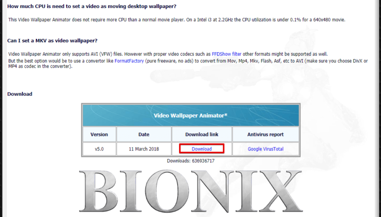 download and install bionix for gif wallpaper How to Set Video or Animated GIF as Wallpaper on Windows 10 | How To KR - howtokr