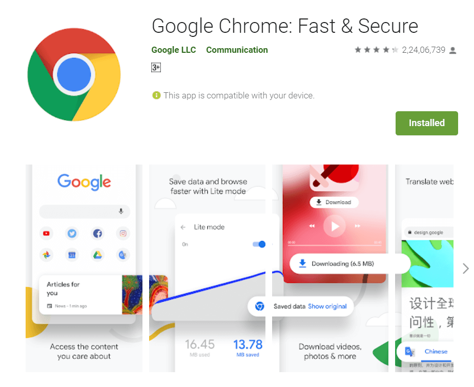 Google Chrome – (Alternative to UC Browser, APUS Browser, DU Browser and CM Browser) - 11 Best Chinese Apps Alternatives in 2020 - How To KR - howtokr