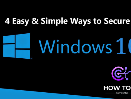 4 Easy & Simple Ways to Secure Windows 10 | How To KR