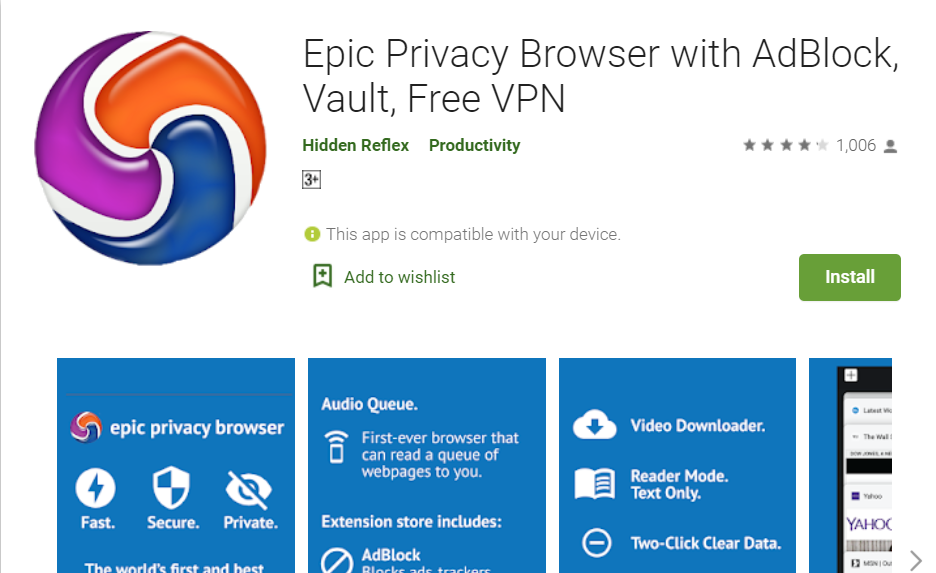 Epic Privacy Web Browser