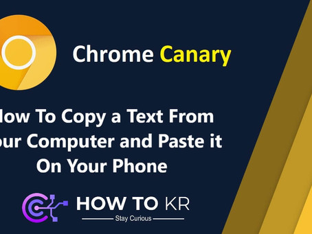 How To Copy a Text From Your Computer and Past it On Your Phone | How To KR
