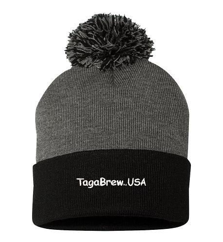 TagaBrew Pom-Pom Knit Beanie