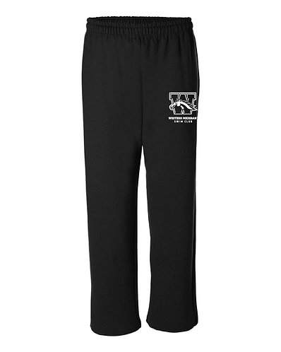 WMU Swim Club Open Bottom Sweatpants