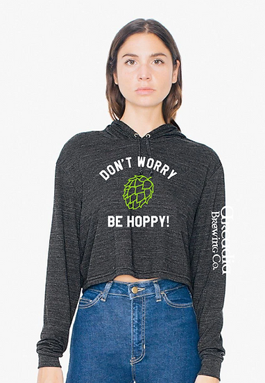 Don't Worry Women's Cropped Hood