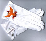 Embroidered Nylon Gloves With Snaps