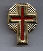"""2.25"""" Gold Metal Cap Cross"""