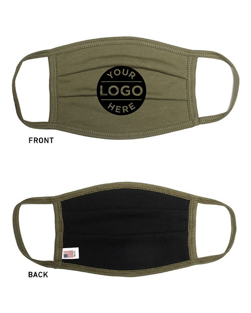 Custom Logo Solid Color Face Masks