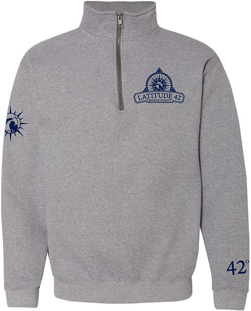 1/4-Zip Logo Pullover