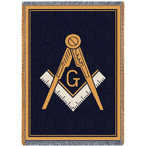 Woven Masonic Emblem Blanket