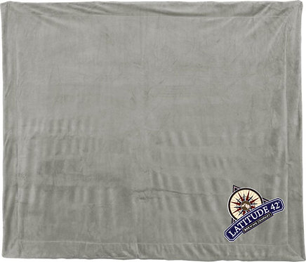 Embroidered Latitude 42º Sherpa Blanket
