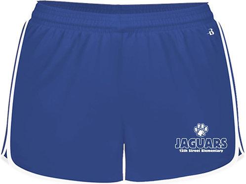 Youth Girls' Paw Blue Athletic Shorts