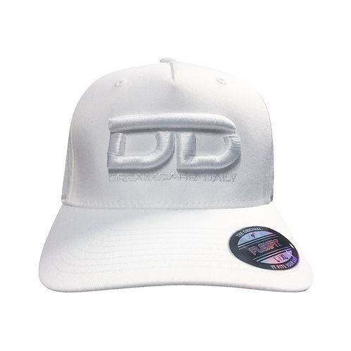 White Dreamcars Daily Embroidered Hat