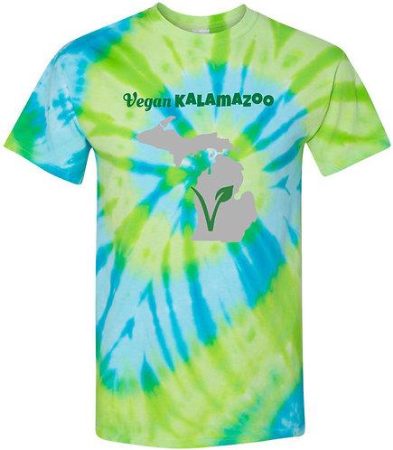 Vegan Kalamazoo Tie-Dyed Tee