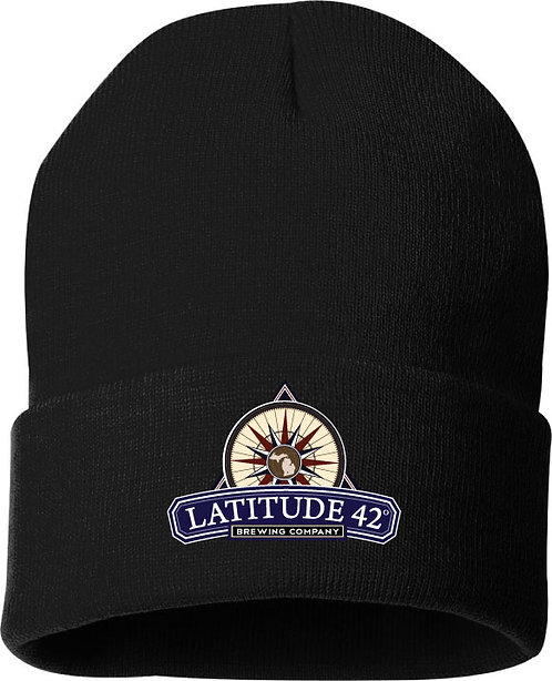 Embroidered L42 Knit Beanie