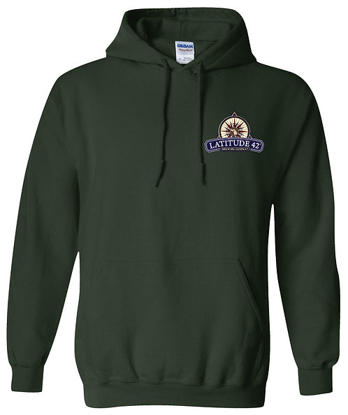 Latitude 42º Embroidered Logo Hoodie