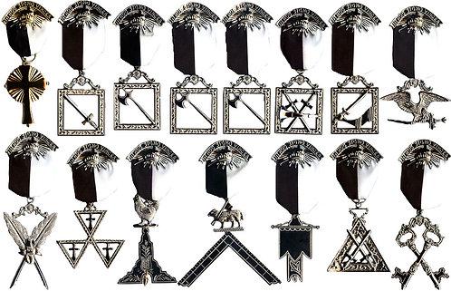 Knights Templar Commandery Officer Jewels
