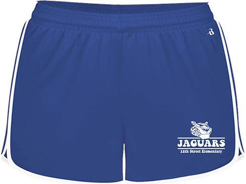 Youth Girls' Jaguar Blue Athletic Shorts