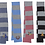 Thumbnail: Embroidered Rugby Striped Knit Scarf