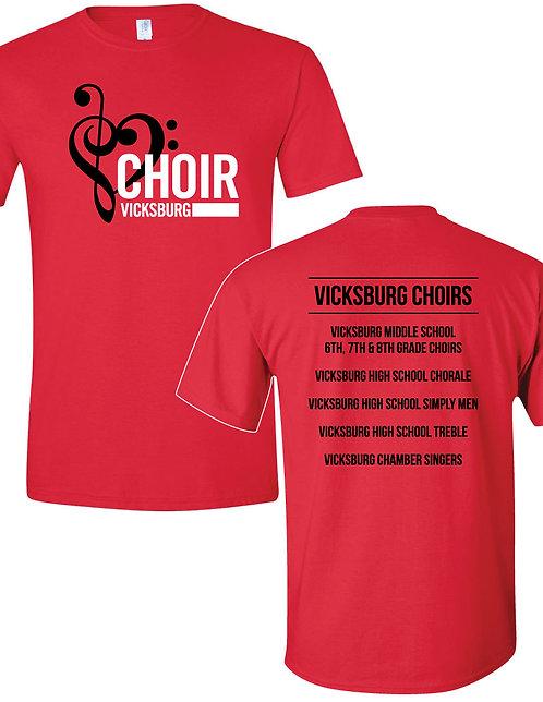 Vicksburg Choirs Clef Heart Tee
