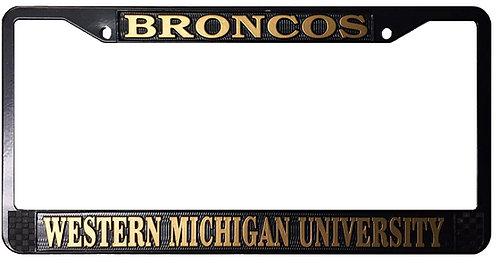 Black Broncos License Plate Frame