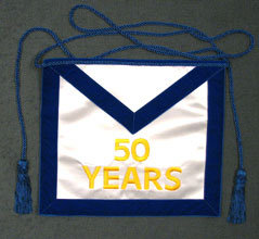 50 Years Satin Apron
