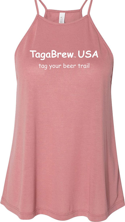 TagaBrew Women's Flowy High-Neck Tank