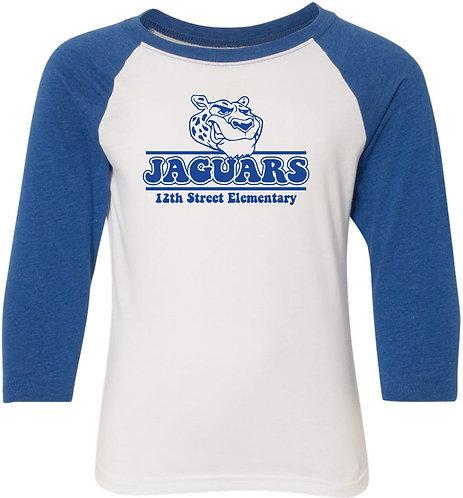 Youth Jaguar Raglan Sleeve Baseball Tee