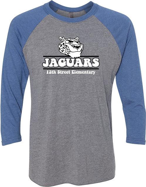 Adult Jaguar Raglan Sleeve Baseball Tee